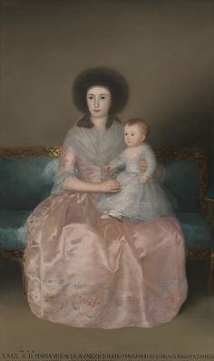 Condesa de Altamira and Her Daughter, María Agustina. Goya (Francisco de Goya y Lucientes)