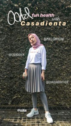 Casual Hijab Outfit, Ootd Hijab, Hijab Chic, Casual Fall Outfits, Skirt Outfits Modest, Modest Fashion, Fashion Outfits, Street Hijab Fashion, Hijab Fashion Inspiration