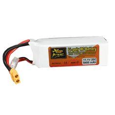 [US$30.99] ZOP Power 11.1V 5400mAh 3S 20C Lipo Battery XT60 Plug #power #11.1v #5400mah #lipo #battery #xt60 #plug