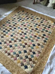 """Gorgeous example of how """"Quilting makes the quilt!"""""""