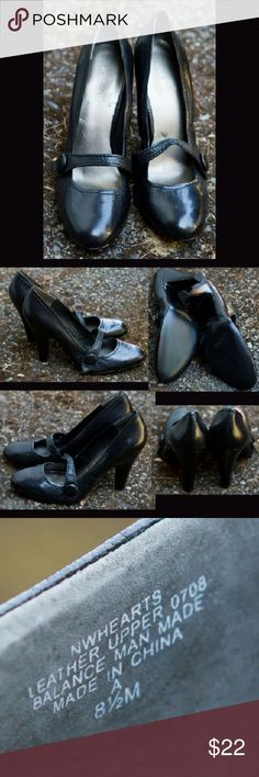Nine West Size 8.5 Black Mary Jane Heels Nine West brand. Please see last image for details. I am here if you have any questions. Thank you! Nine West Shoes Heels