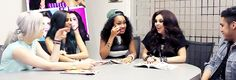 "[gif] Interviewer: ""Describe Little Mix in one word"" Jesy: ""...hot."" This was their reaction."