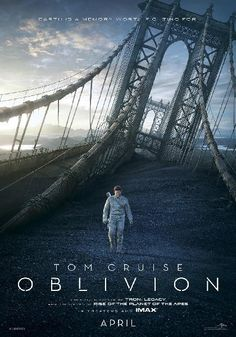 Oblivion (2013) High above a war-torn future Earth, Cmdr. Jack Harper is maintaining the planet's defensive drones when a crippled starship enters his territory. Its sole occupant, a mysterious woman, leads Harper to shocking truths about humankind's legacy.  Tom Cruise, Morgan Freeman, Andrea Riseborough...TS sci-fi
