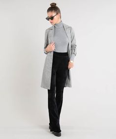 Normcore, Turtle Neck, Fashion, How To Dress Cool, Women's Blouses, Gray, Women's, Templates, Sleeves