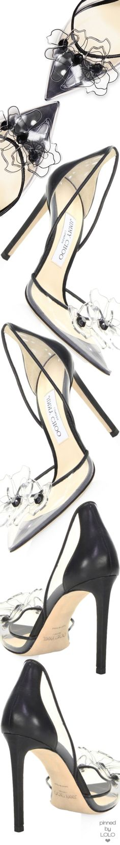 Jimmy Choo Levina Transparent Pumps #jimmychoopumps