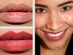 CoverGirl Delish Lip Perfection Lipcolor CoverGirl Lip Perfection: Delish, Heavenly, Romance, Rush, Kiss Here are five shades from the Nudes/Corals/Reds Makeup Swatches, Makeup Dupes, Lipstick Guide, Mac Lipsticks, Chanel Rouge Coco Shine, Romance, Dark Lips, Makeup, Romantic