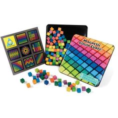 Magnetic Wooden Color Cubes!  There are design examples or these are just fun for play and visual sensory!