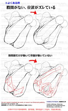 how to draw, groin, back of thigh / 個人メモ:骨盤の動き - pixiv Body Reference Drawing, Drawing Reference Poses, Anatomy Reference, Drawing Poses, Figure Drawing, Anatomy Sketches, Anime Drawings Sketches, Anatomy Drawing, Anatomy Art
