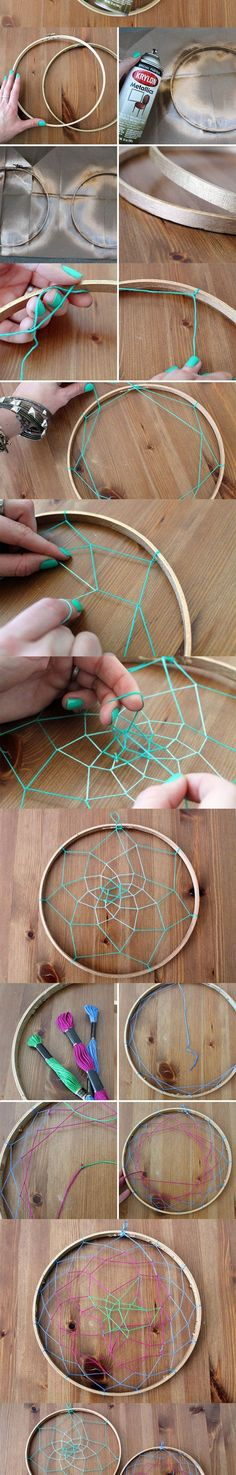 Dream catcher diy One day when I get time! this is sooo smart for a college dorm to hang jewelry