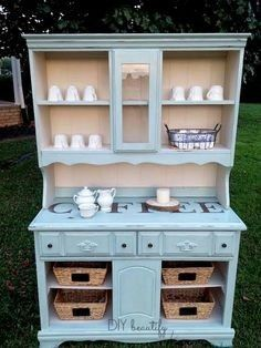 Cute Great kitchen cabinet idea using a burrow!