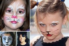10 Maquillages faciles à réaliser - Maman pour la vie Animal Face Paintings, Animal Faces, Halloween Crafts, Halloween Face Makeup, Diy For Kids, Crafts For Kids, Leo Birthday, Kids Makeup, Fantasy Costumes