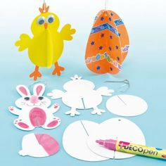 3D Easter Hanging Decorations