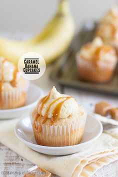 Caramel Banana Cupcakes - Taste and Tell