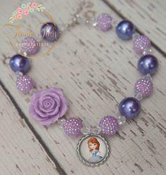 Princess Sofia Inspired Rose Necklace