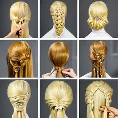 Erstaunliche Frisuren Techniken ♥ ️ New Hair Cut new haircut techniques Up Hairstyles, Braided Hairstyles, Amazing Hairstyles, Popular Hairstyles, Stylish Hairstyles, Fast Easy Hairstyles, Church Hairstyles, Easy Everyday Hairstyles, Pretty Hairstyles