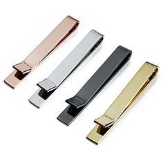 8pcs Men Stainless Steel Silver Gold Tie Necktie Clip Bar Set Wedding Birth Gift