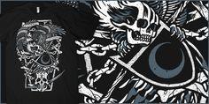 """FVNERAL APPAREL: winged death"" t-shirt design by Craig Robson"