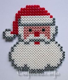 Fuse Beads Father Christmas