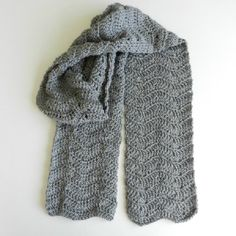 Whip up a chevron winter scarf with this easy and free crochet pattern.