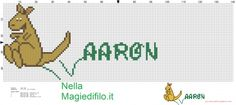 Name Aaron with kangaroo (click to view)