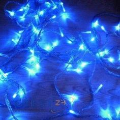 Solar Powered Blue Lights. Put it in an empty lantern for captured fairies!