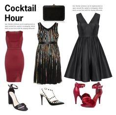 """Cocktail Hour Plus"" by beautymanifesting ❤ liked on Polyvore featuring Dorothy Perkins, Samya, Tevolio, Valentino, Ashley Stewart and Judith Leiber"