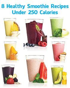 8 Healthy Smoothie Recipes Under 250 Calories