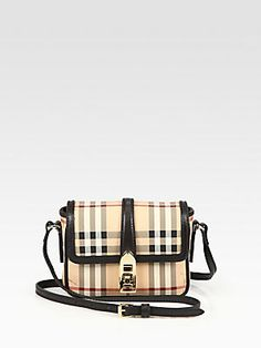 Burberry Berkeley Coated Canvas Haymarket Crossbody Bag