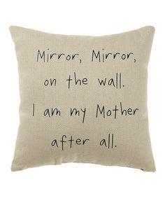 Another great find on #zulily! White 'Mirror Mirror' Pillow #zulilyfinds