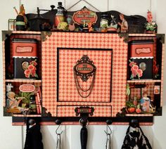 annes papercreations: Graphic 45 Home Sweet Home Spice Rack with a recipe Mini Album insidel by Anne Rostad