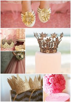 Pink and gold Princess party inspiration.