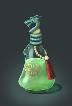 ArtStation - Longevity potion, Raphael Melkiora Fantasy Rpg, Dark Fantasy, Anime Vs Cartoon, Magic Bottles, Dnd Art, Potion Bottle, Elements Of Art, Doctor Strange, Alchemy