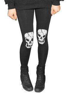 """Women's+""""Skull""""+Leggings+by+WOWCH+(Black)"""