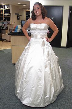 Judd Waddell Lace Bodice W/ Pickup Train. Dress details: http://ow.ly/a3i8T #SYTTD #Weddings