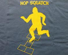 Hopsquatch Funny Sasquatch Bigfoot Tshirt by onerainyafternoon105, $22.99