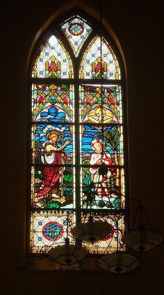 Church window painting - St Patricks Cathedral - Karachi by Mystapaki, via Flickr