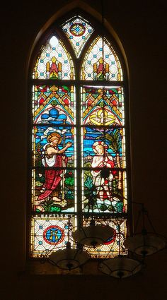 Church window painting - St Patricks Cathedral - Karachi by Mystapaki, via Flickr