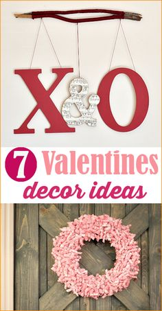 """Valentine's Day Decor.  Cute DIY Valentine decoration ideas.  Give your home a """"Heart Attack"""" with these fun ideas."""