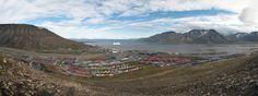 Longyearbyen, Svalbard - somere panoramo