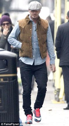 Stroll: David Beckham was spotted out and about in Notting Hill on Friday...
