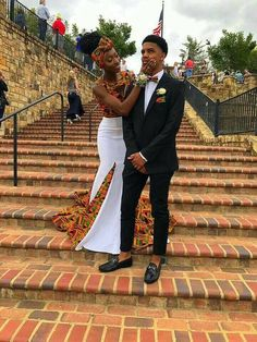 African Couple's clothing/ wedding clothing/ dashiki couple's outfit/African women's clothing/ African men's bow tie and pocket square. African Fashion Designers, African Inspired Fashion, African Print Fashion, Africa Fashion, African Prints, African Prom Dresses, African Fashion Dresses, African Dress, Fashion Outfits