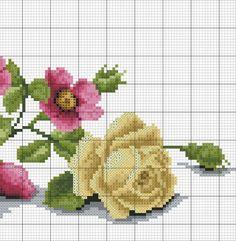 images attach c 8 105 66 Cute Cross Stitch, Cross Stitch Rose, Cross Stitch Flowers, Cross Stitch Charts, Cross Stitch Designs, Cross Stitch Patterns, Ribbon Embroidery, Cross Stitch Embroidery, Embroidery Patterns