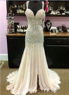 2015-Mermaid-Beads-Sweetheart-Celebrity-Evening-Formal-Party-Dress-Prom-Gown