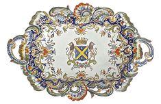 Vermilion Designs - Heraldic Coat of Arms Antique Platter | One Kings Lane