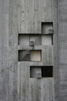 detail of the Brion cemetery, San Vito d'Altivole, Italy by Carlo Scarpa (1972)