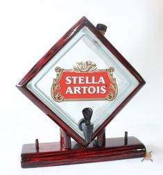 Stella Artois, Metal Barrel, Glass Blocks, Glass Bottles, Table Lamp, Clock, Woodworking, Diy, Home Decor