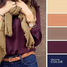 I'm into the dark navy and burgundy being combined with light browns and tans