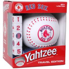 Batter Up! Hit the field with this Red Sox edition of YAHTZEE. America's #1 Dice Game featuring one-of-a-kind Red Sox dice and a football dice cup. It's the only game where family and friends can enjoy classic YAHTZEE game play with a special Red Sox twist.  $18.99  http://calendars.com/Boston-Red-Sox/Boston-Red-Sox-Travel-Yahtzee-Game/prod200900007440/?categoryId=cat00419=cat00419#