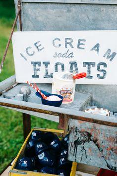 Ice cream soda float