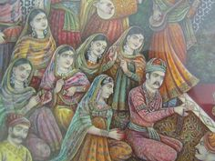 Akbar and his Hindu Wife, the Amber Princess Mughal Architecture, Garden Painting, Blue Bloods, Indian Paintings, Bright Stars, Cartography, Islamic Art, Emperor, Dice